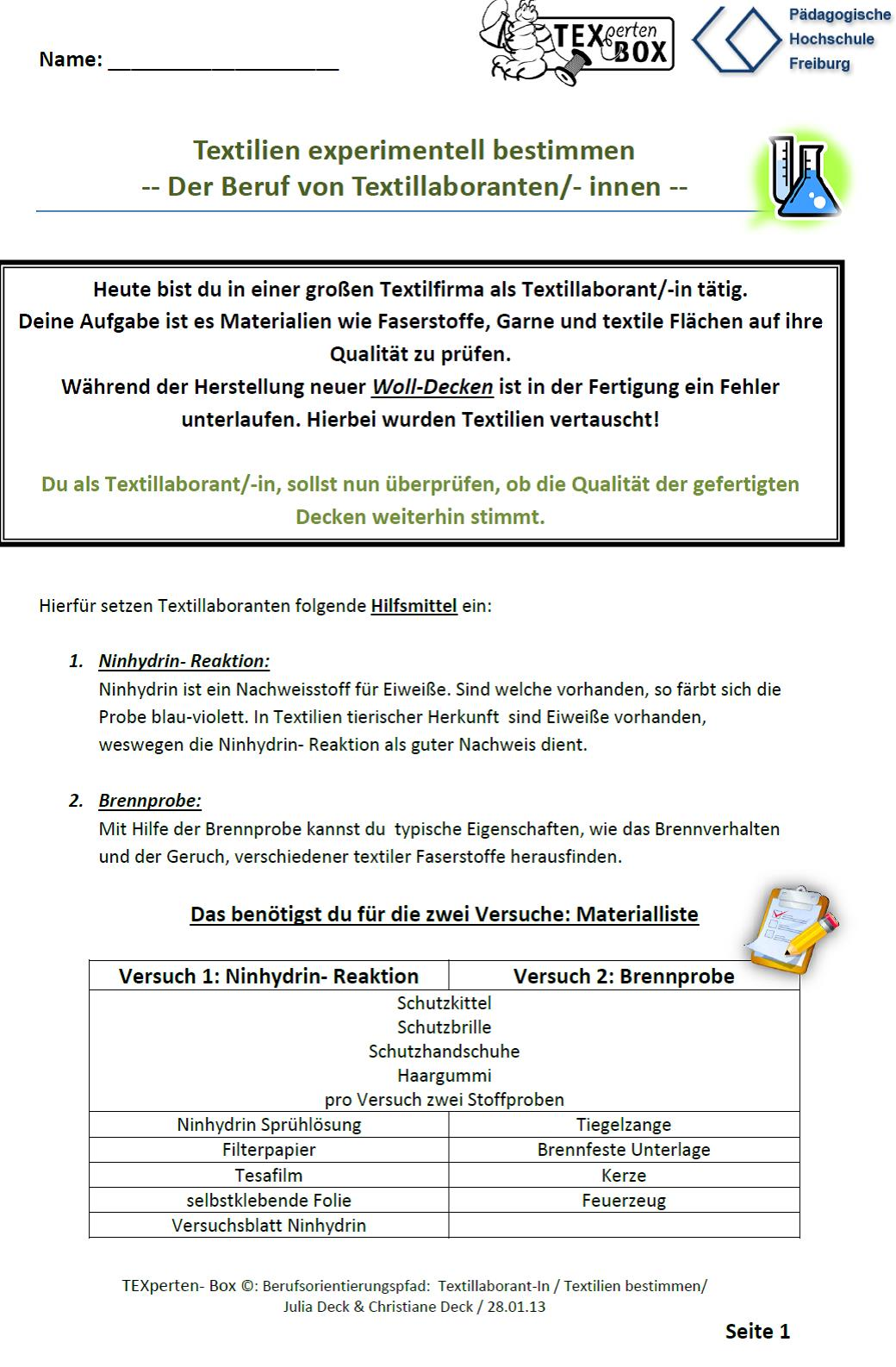 Textilberufe Hands-on: Lehramtsstudierende entwickeln einen ...