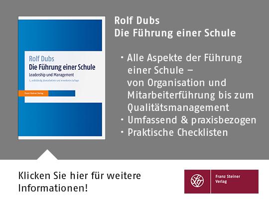 Rolf DUBS, Die Führung einer Schule
